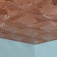 Drop Ceiling Tiles: Fasade Flooring Art Deco - 2 ft. x 2 ft. Lay-in Ceiling Tile in Cracked Copper L58-19