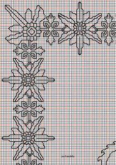 "Free Pattern-""dragons, phoenixes and bat"""