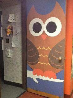 Uil - deur versiering
