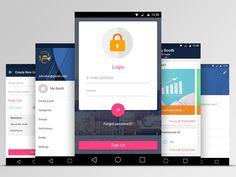Another option of Vote app :) Mobile Ui Design, App Design, Android Material Design, Android L, Application Design