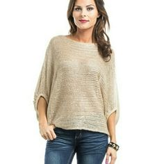 Knit Sweater Top Beige sequin embellished knit sweater top Sweaters