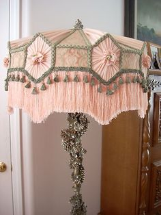 pink ❤•❦•:*´¨`*:•❦•❤ lamp Lovely idea with gathered hexagons