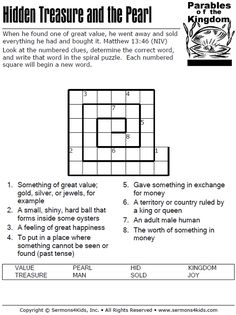 Parables of the Kingdom - Spiral Puzzle