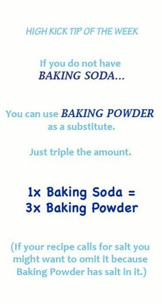 What can I substitue for baking soda?! Best tip!!