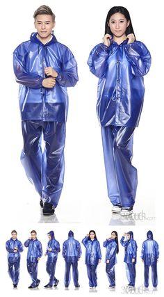 Girls Raincoat, Raincoat Outfit, Hooded Raincoat, Stylish Raincoats, Raincoats For Women, Clear Pants, Pvc Trousers, Clear Raincoat, Plastic Pants