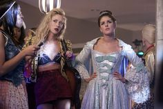 Pin for Later: The Best TV Character Halloween Costumes 90210: Ivy and Annie Ivy dons a bikini top decorated with spiders, while Annie opts for a more modest princess period costume.