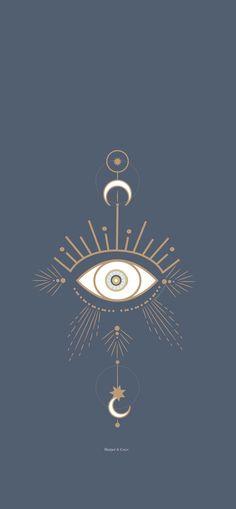 Blue Phone wallpaper- Evil eye