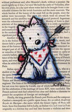 Title:  Cupid Westie  Artist:  Kim Niles  Medium:  Drawing - Color Pencils On Vintage Book Page