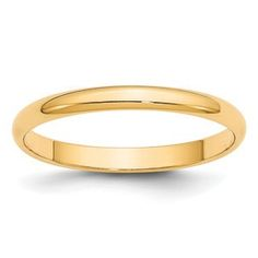 2.5MM Half Round Lightweight Plain Wedding Band In 14K Yellow Gold Gemologica.com offers a unique and simple selection of handmade fashion and fine jewelry for men, woman and children to make a statement. We offer earrings, bracelets, necklaces, pendants, rings and accessories with gemstones, diamonds and birthstones available in Sterling Silver, 10K, 14K and 18K yellow, rose and white gold, titanium and silver metal. Shop Gemologica jewellery now for cool cute design ideas: gemologica.com