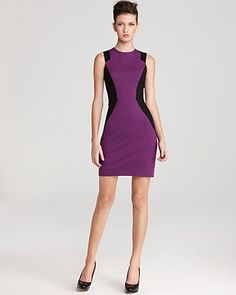 Cynthia Steffe Color Block Dress - Aubrey Sleeveless Panel | Bloomingdale's