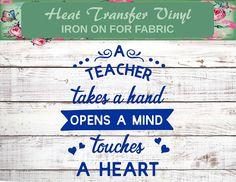Teacher Gift, Teacher Iron On, Teacher Life, Teacher Shirt Iron On, Teacher Decal, Teacher Takes A Hand, Teacher Christmas, School Shirt