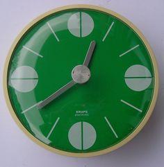 KRUPS electronic Wanduhr Küchenuhr Uhr Vintage 70er Jahre