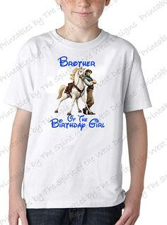 Brother of the Birthday Girl IMAGE clip by SpiritWestPrintables