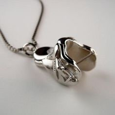 English Saddle Necklace Sterling Silver