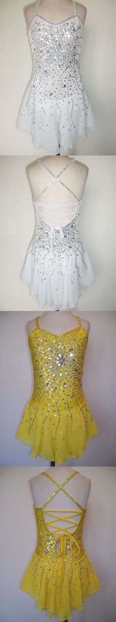 Other Ice Skating 4939: Custom Made Ice Skating Baton Twirling Costume Dress -> BUY IT NOW ONLY: $170 on eBay!