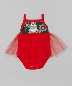 Another great find on #zulily! Red Owl Skirted Bodysuit - Infant by Victoria Kids #zulilyfinds