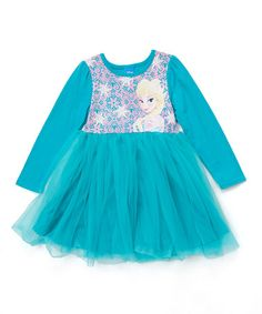 Frozen Turquoise Elsa Tutu Dress - Girls #zulily #zulilyfinds