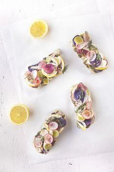 Dinette Magazine - Poisson blanc au four, petits légumes et citron