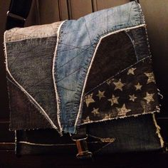 Atlantida denim collage bag.