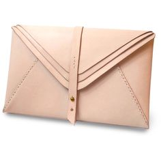 HarLex Personalized Leather Multi Envelope Clutch Bag ($211) ❤ liked on Polyvore