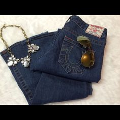 "❤️Auth True Religion Jeans❤️ ❤Like NEW ️Authentic True Religion Jeans Size 26 Inseam 34"" The last photo shows a minor flaw, I purchased like that❤️ No Trades True Religion Jeans Boot Cut"