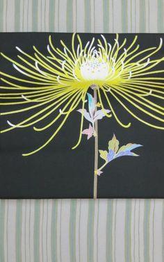 中町博志の友禅の名古屋帯 Japanese Design, Japanese Art, Chinese Embroidery, Kimono Pattern, Kimono Fabric, Japanese Outfits, Color Shapes, Japanese Fabric, Yukata