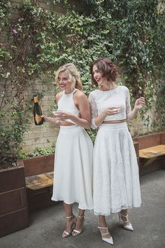 Hot Bridesmaids Alert! Shop gorgeous separates and jumpsuits for your squad, only at House of Ollichon. #bridaljumpsuit #alternativeweddingdress #bridalwear #jumpsuit #bridesmaid #twopiece #mismatched #bridetobe #teambride