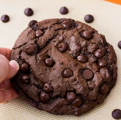 1 XXL Death by Chocolate Cookie. - Sallys Baking Addiction  I made this cookie, it was fabulous