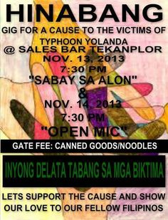 Hinabang: Gig for a Cause #YolandaPH #RescuePH