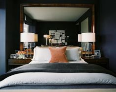 Fabulous Design Idea!! Oversized Mirrors can be used in sooo many Ways!  Lov'in It!