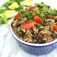 Cuban Black Beans and Rice is a simple, satisfying side dish bursting with Latin flavors like garlic, oregano and cumin.