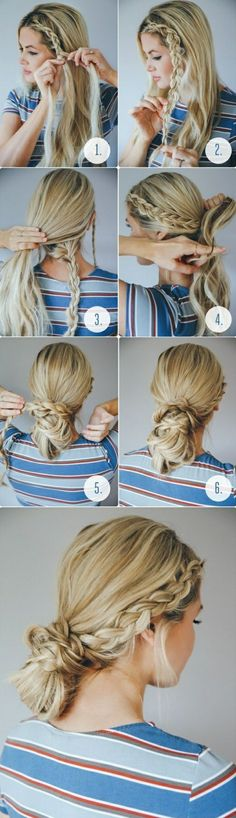 Fun braid and bun combination