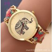 Z9 New Fashion Women Braided Rope Bracelet Wristwatch Relogio Feminino Bohemian Style Quartz Watch Dress Watches