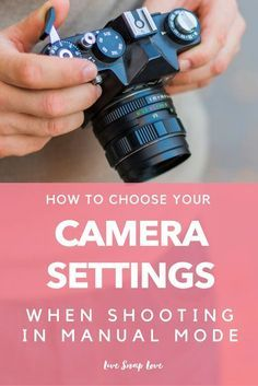 To Choose Your Camera Settings in Manual Mode (with examples!) How to choose your camera settings when shooting in manual mode - learn how to quickly decide which settings to use and when. Also includes example images along with their settings. Dslr Photography Tips, Photography Lessons, Photography For Beginners, Photography Business, Photography Tutorials, Digital Photography, Learn Photography, Portrait Photography, Photography Equipment