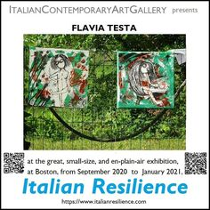 "Beppe Simon on Instagram: ""#italianresilience #flaviatesta #italiancontemporaryartgallery esponi a #boston con gli artisti italiani alla #www.italianresilience.com"" New Art, Baseball Cards"