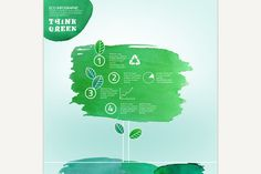 Watercolour Leaves Infographic. Water Infographic. $4.00