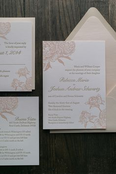 ELIZABETH Suite Romantic Package, blush and champagne, neutrals, blush peonies, neutral wedding invitations, letterpress wedding invitations