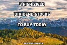 3 high yield dividend stocks to buy today