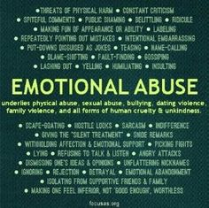 Emotional abuse is as damaging as physical abuse, if not more. And sometimes family are the culprits. by addie