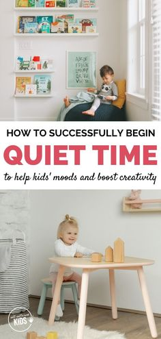 A daily quiet time with non-napping toddlers and preschoolers can help their moo. - A daily quiet time with non-napping toddlers and preschoolers can help their mood and also spark th - Toddlers And Preschoolers, Parenting Toddlers, Parenting Hacks, Toddler Preschool, Toddler Toys, Toddler Activities, Toddler Chores, Quiet Time Boxes, Quiet Time Activities