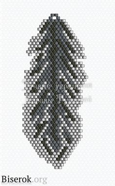 Scheme beaded leaf pendant in brick stitch start from line 20 downwards and then finish the upper part Seed Bead Patterns, Beaded Jewelry Patterns, Peyote Patterns, Beading Patterns, Bracelet Patterns, Beaded Crafts, Feather Jewelry, Seed Bead Earrings, Beaded Earrings