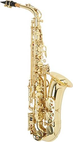 Etude EAS-100 Student Alto Saxophone Lacquer  Excellent tone production  Easy to play  Mechanically reliable  Comes with case, mouthpiece, ligature and care products.  Includes case, mouthpiece, cap, and ligature