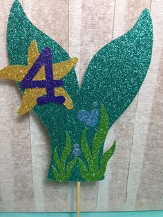 Mermaid Tail Cake Topper (Under the Sea Party, Mermaid Theme, Glitter Decorations, First Birthday) Mermaid Theme Birthday, Little Mermaid Birthday, Little Mermaid Parties, The Little Mermaid, Girl Birthday, Cake Birthday, Mermaid Baby Showers, Baby Mermaid, Mermaid Tail Cake