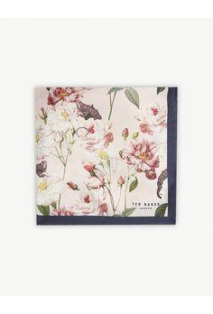 e09d65725cf1 TED BAKER Rye floral-print silk pocket square