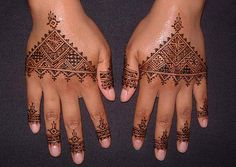 Moroccan henna design by kenzilicious