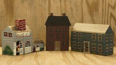 Vintage 80s Hand Painted Wooden Mini Block by SycamoreVintage