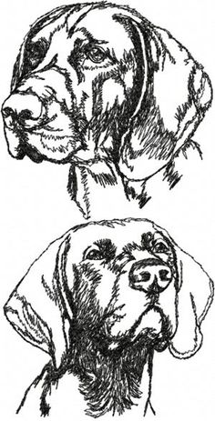 Advanced Landscape Coloring Pages | German Shorthaired Pointer Set