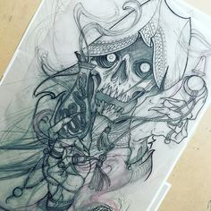 Tattoo Sleeve Designs For Women - Tips and Ideas For Pretty Sleeve Tattoos >>> Continue with the details at the image link. Skull Tattoos, Body Art Tattoos, New Tattoos, Tribal Tattoos, Tattoos For Guys, Neotraditionelles Tattoo, Hand Tattoo, Tatoo Art, Tattoo Fonts