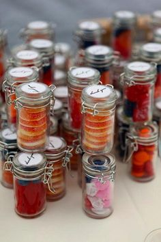 Candy Bottles Wedding Favors