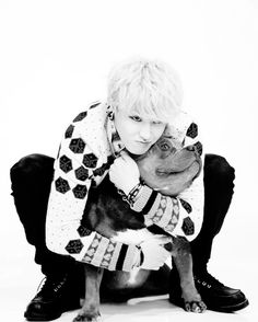 U-Kwon - Block B // Lol, the dog really doesn't want to be there